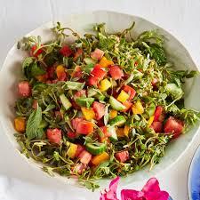 Purslane, Cucumber & Tomato Salad with Mint